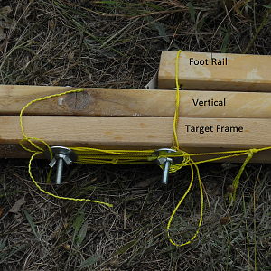 Target Stand - Folded, Pivot Detail